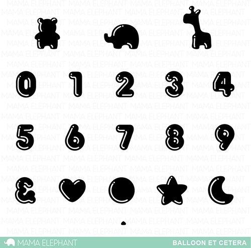 Mama Elephant Clear Stamps BALLOON ET CETERA Preview Image