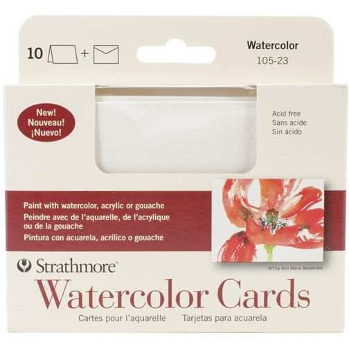 Strathmore WATERCOLOR CARDS 3x5 with Envelopes 10523 zoom image