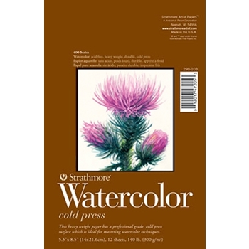 Strathmore WATERCOLOR PAPER PAD 5.5x8.5 Bound 298103