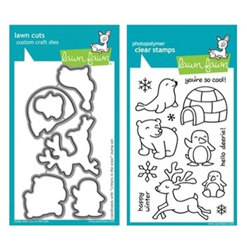 Lawn Fawn SET LF214CITS SET CRITTERS IN THE SNOW Stamps And Dies*