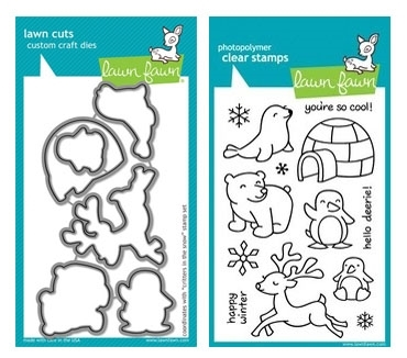 Lawn Fawn SET LF214CITS SET CRITTERS IN THE SNOW Stamps And Dies* zoom image