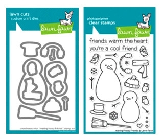 Lawn Fawn SET LF214MFF MAKING FROSTY FRIENDS Clear Stamps And Dies