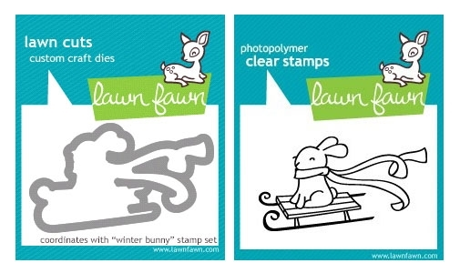 Lawn Fawn Winter Bunny Stamp and Die Set