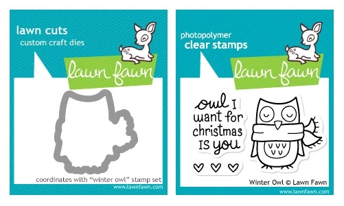 Lawn Fawn SET LF214WOWL WINTER OWL Clear Stamps And Dies zoom image