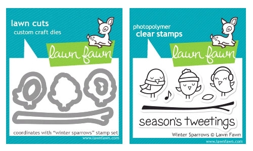 Lawn Fawn SET LF214WSP WINTER SPARROWS Stamps And Dies zoom image