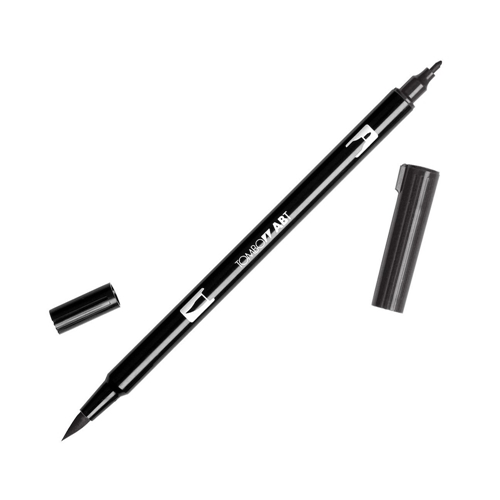 Tombow N15 BLACK Dual Brush Marker 56621 Preview Image