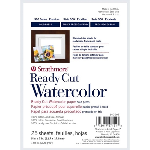 Strathmore WATERCOLOR PAPER 5.5x7 Ready Cut Sheets 140205 Preview Image