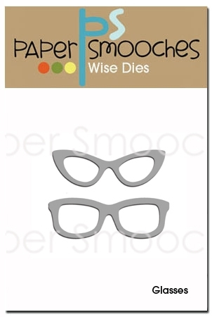 Paper Smooches GLASSES Wise Dies DED182 Preview Image
