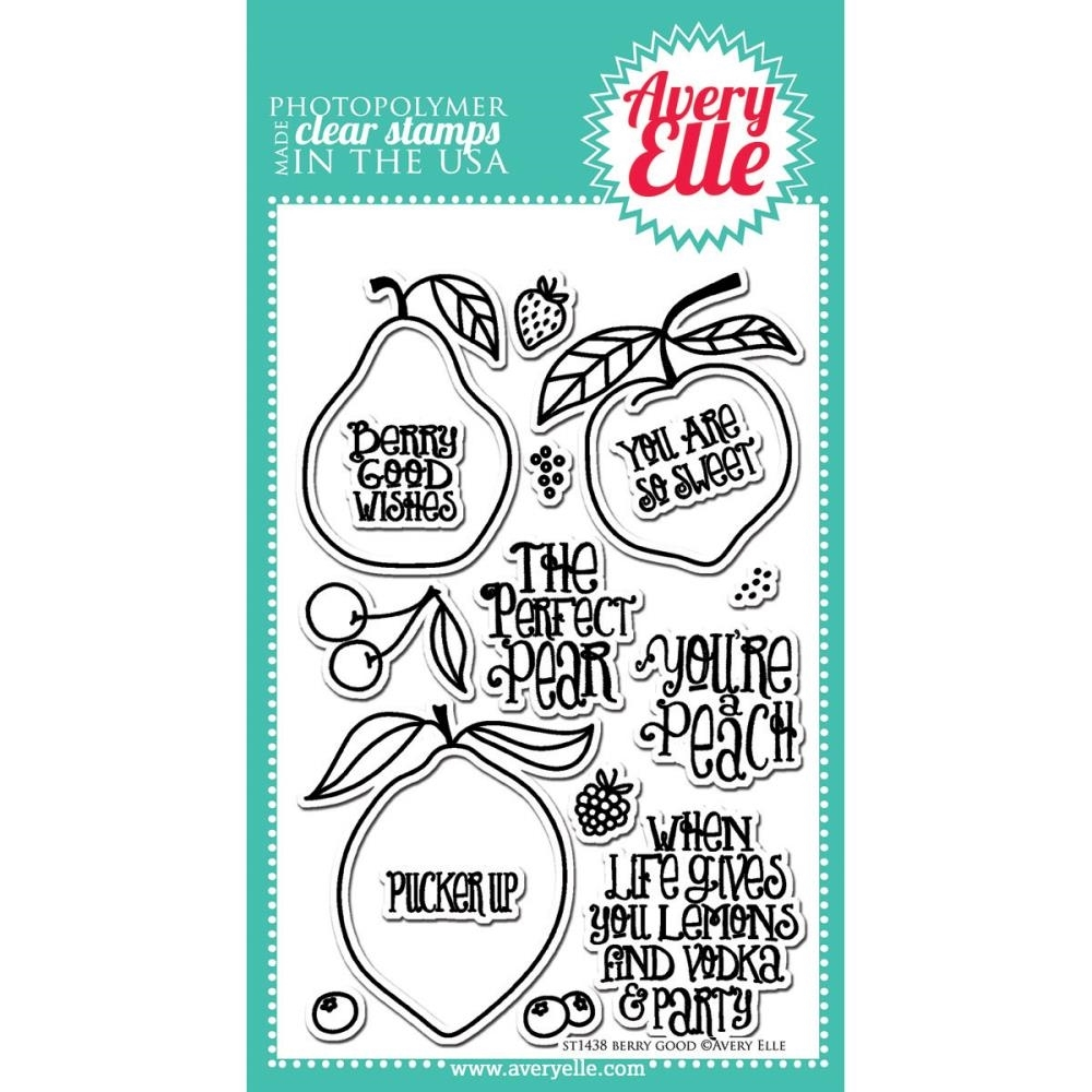 Avery Elle Clear Stamp BERRY GOOD Set ST-14-38* zoom image