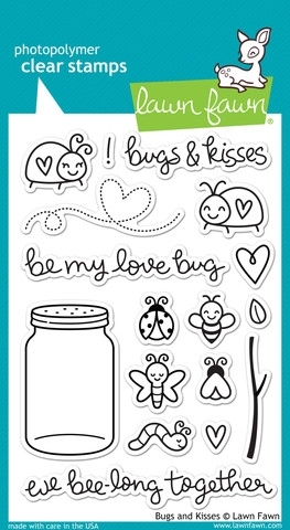 Lawn Fawn BUGS AND KISSES Clear Stamps LF789 zoom image