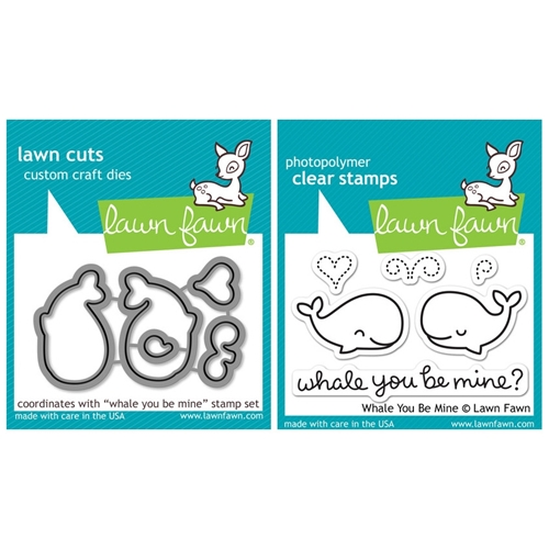 Lawn Fawn SET LF214WYBM WHALE BIG LOVE Clear Stamps And Dies Preview Image