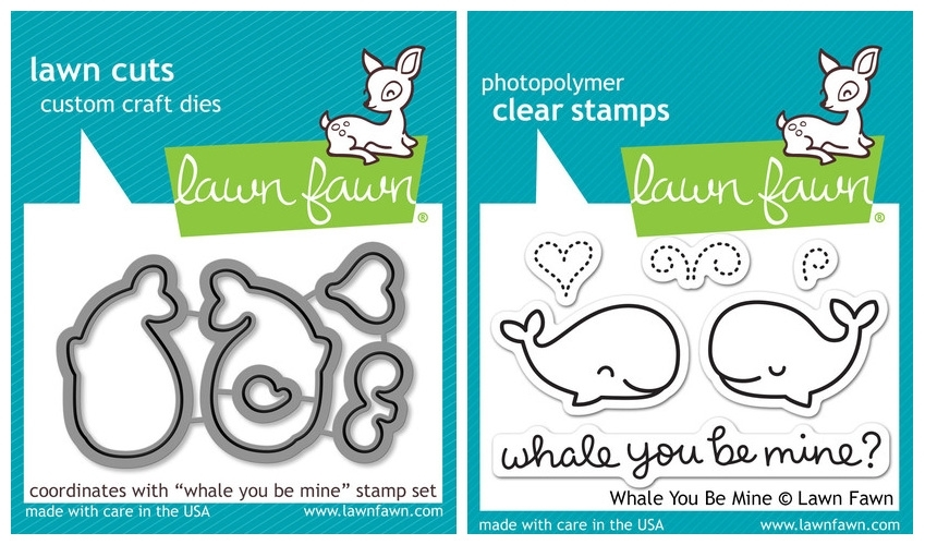 Lawn Fawn SET LF214WYBM WHALE BIG LOVE Clear Stamps And Dies zoom image