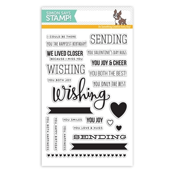 Simon Says Clear Stamps SENDING AND WISHING sss101475
