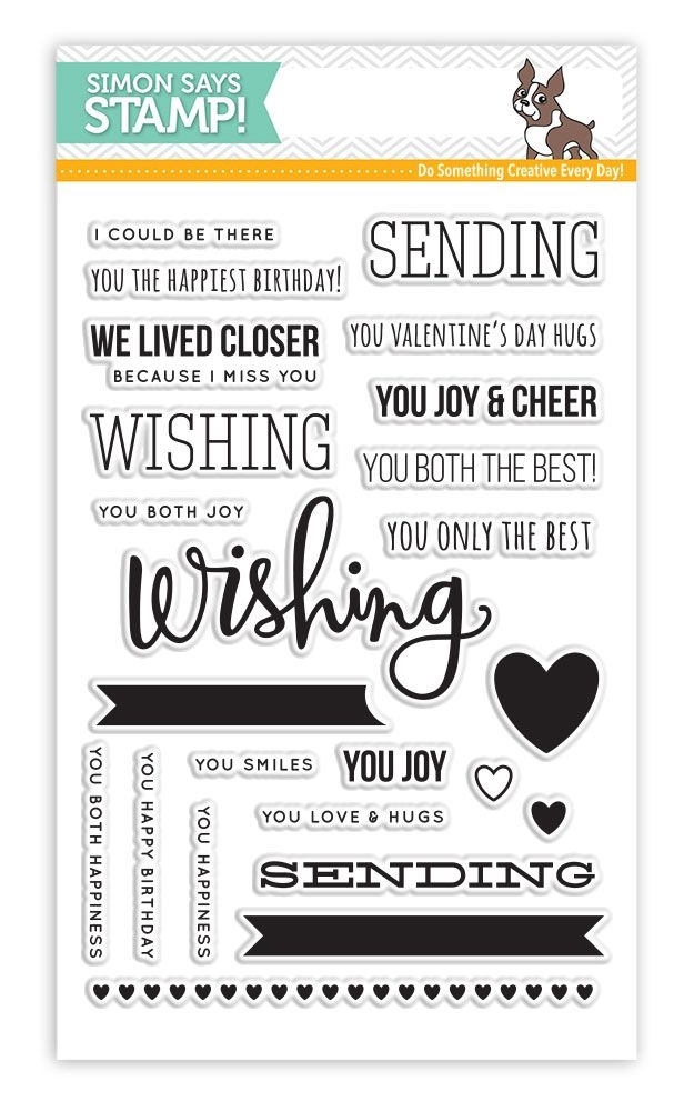 Simon Says Clear Stamps SENDING AND WISHING sss101475 zoom image