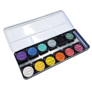 Finetec MICA WATERCOLOR PEARLESCENT Paint 12 Set F1200