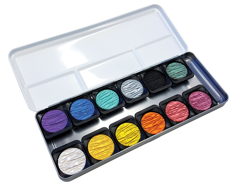 Finetec MICA WATERCOLOR PEARLESCENT Paint 12 Set F1200 zoom image