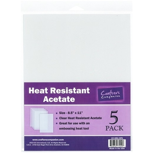 Crafter's Companion HEAT RESISTANT ACETATE Pack CC-HRA-5PK* Preview Image