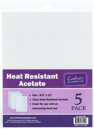 Crafter's Companion HEAT RESISTANT ACETATE Pack CC-HRA-5PK zoom image