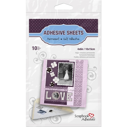 Scrapbook Adhesives 4 x 6 INCH ADHESIVE SHEETS Permanent 16800* Preview Image