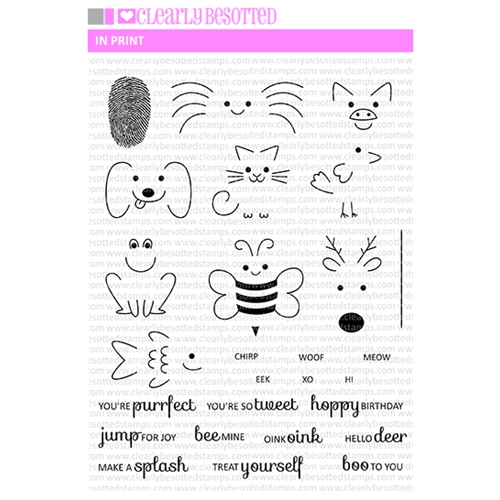 Clearly Besotted IN PRINT Clear Stamp Set  Preview Image