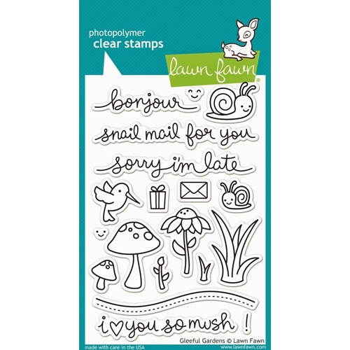 Lawn Fawn GLEEFUL GARDENS Clear Stamps LF799 Preview Image