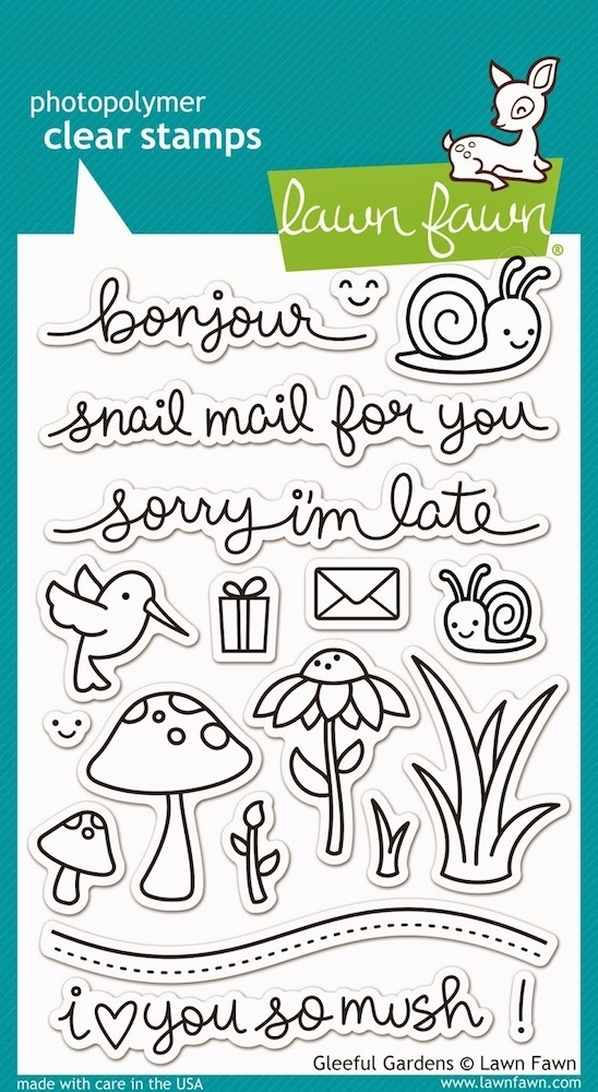 Lawn Fawn GLEEFUL GARDENS Clear Stamps LF799 zoom image