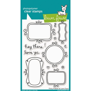 Lawn Fawn FLIRTY FRAMES Clear Stamps LF801