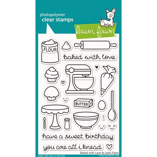Lawn Fawn BAKED WITH LOVE Clear Stamps LF805 Preview Image