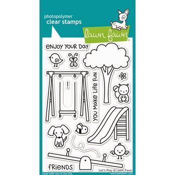 Lawn Fawn LET'S PLAY Clear Stamps LF848