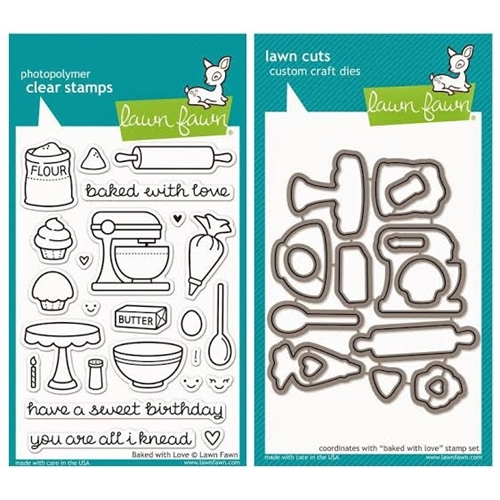 Lawn Fawn SET LF215BWL YOU'RE ALL I KNEAD Clear Stamps And Dies Preview Image