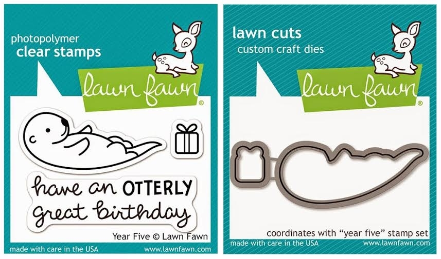 Lawn Fawn SET LF215Y5 OTTERLY GREAT BIRTHDAY Clear Stamps And Dies zoom image