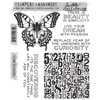 Tim Holtz Cling Rubber Stamps  PERSPECTIVE cms213