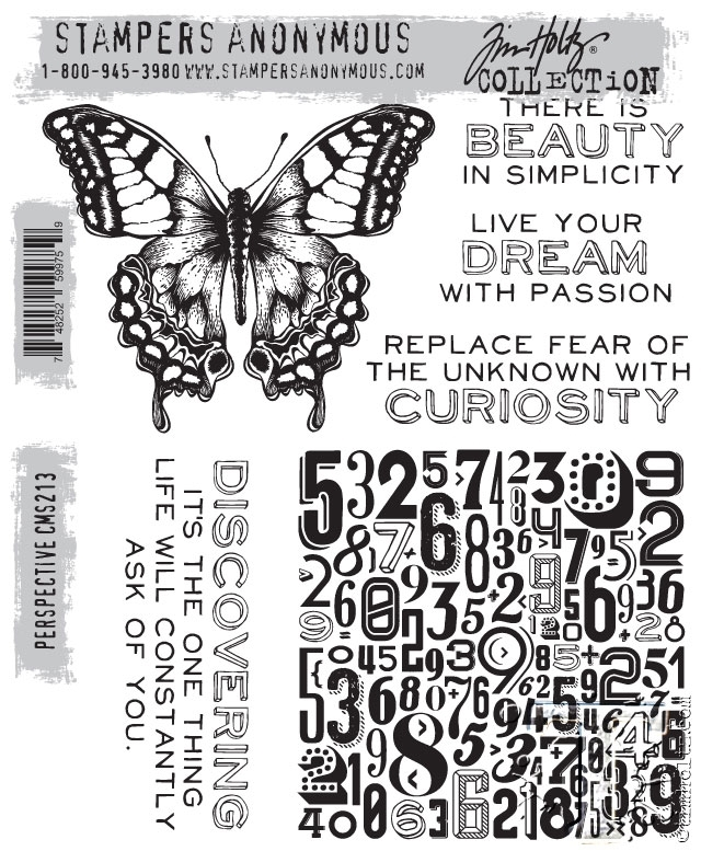 Tim Holtz Cling Rubber Stamps  PERSPECTIVE cms213 zoom image