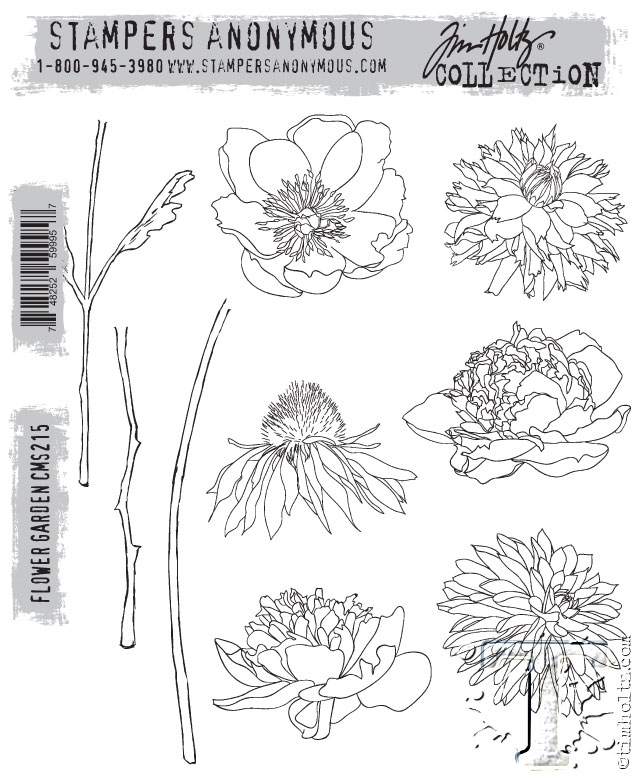 Tim Holtz Cling Rubber Stamps FLOWER GARDEN cms215 zoom image