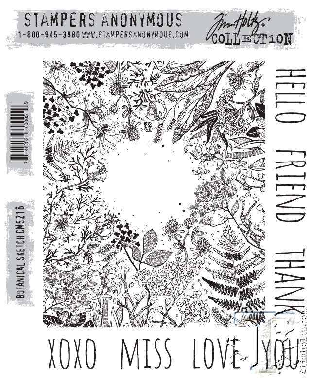 Tim Holtz Cling Rubber Stamps BOTANICAL SKETCH cms216 zoom image
