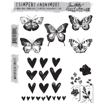 Tim Holtz Cling Rubber Stamps WATERCOLOR cms217