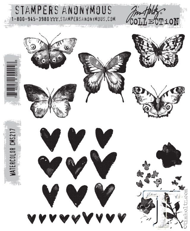 Tim Holtz Cling Rubber Stamps WATERCOLOR cms217 zoom image