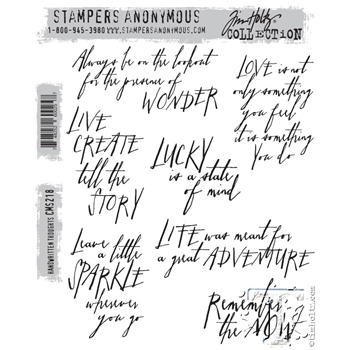 Tim Holtz Cling Rubber Stamps HANDWRITTEN THOUGHTS cms218