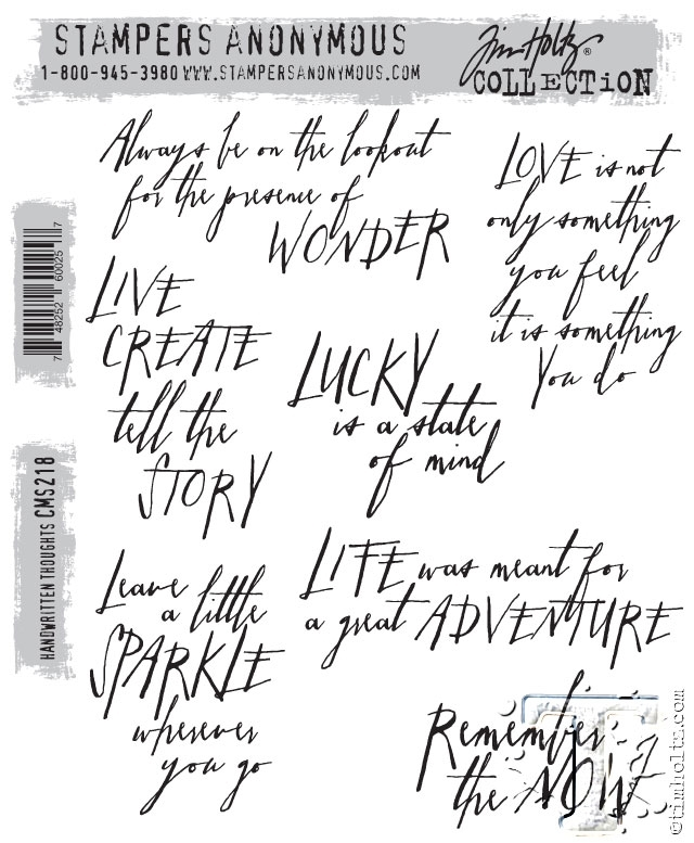 Tim Holtz Cling Rubber Stamps HANDWRITTEN THOUGHTS cms218 zoom image