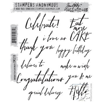 Tim Holtz Cling Rubber Stamps HANDWRITTEN SENTIMENTS cms219