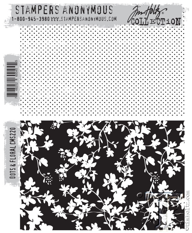 Tim Holtz Cling Rubber Stamps DOTS AND FLORAL CMS220 zoom image