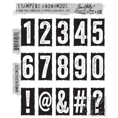 Tim Holtz Cling Rubber Stamps NUMBER BLOCKS CMS222* Preview Image