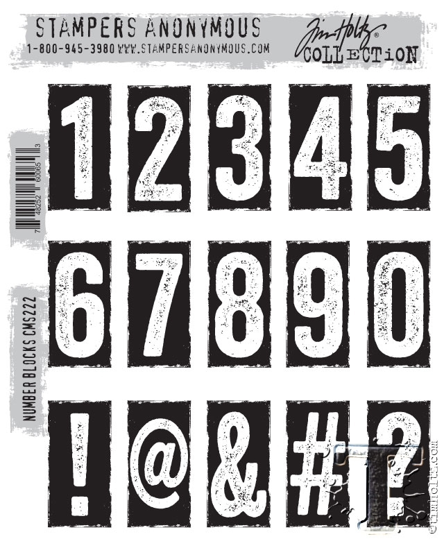 Tim Holtz Cling Rubber Stamps NUMBER BLOCKS CMS222* zoom image