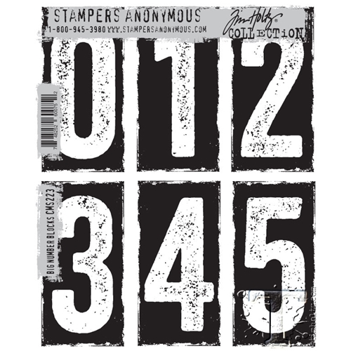 Tim Holtz Cling Rubber Stamps  BIG NUMBER BLOCKS CMS223* Preview Image