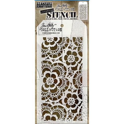 Tim Holtz Layering Stencil  LACE THS034 Preview Image
