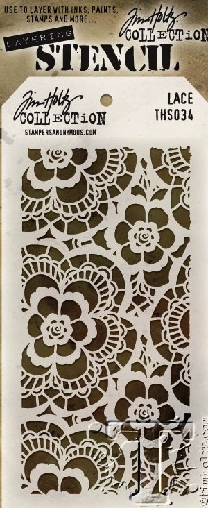 Tim Holtz Layering Stencil  LACE THS034 zoom image