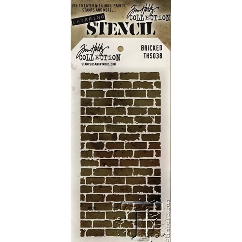 Tim Holtz Layering Stencil BRICKED THS038 Preview Image