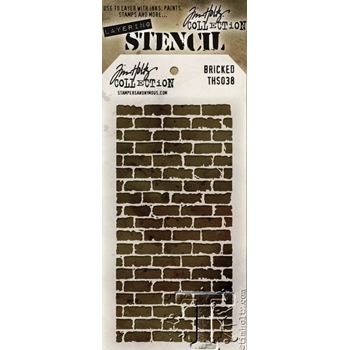 Tim Holtz Layering Stencil BRICKED THS038