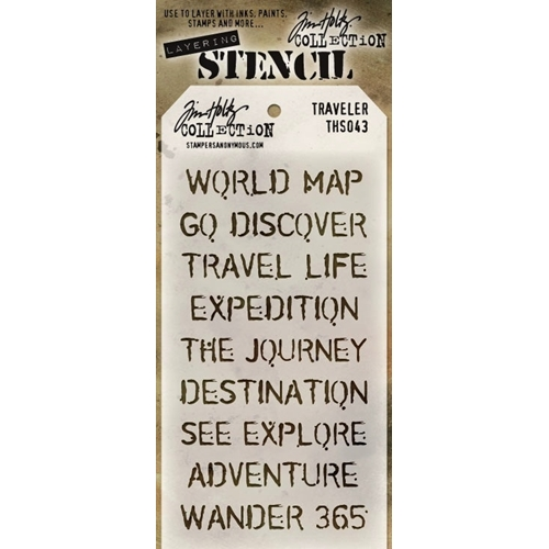 Tim Holtz Layering Stencil  TRAVELER THS043 Preview Image