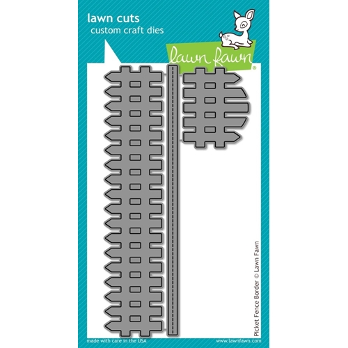 Lawn Fawn PICKET FENCE BORDER Lawn Cuts Dies LF853* Preview Image